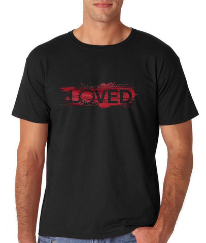 "I Loved Red Men T Shirts Red-T Shirts-Gildan-Black-M To Fit Chest 38-40"" (96-101cm)-Daataadirect"