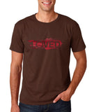 "I Loved Red Men T Shirts Red-T Shirts-Gildan-Dk Chocolate-S To Fit Chest 36-38"" (91-96cm)-Daataadirect"