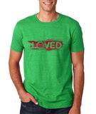 "I Loved Red Men T Shirts Red-T Shirts-Gildan-Heather Irish Green-S To Fit Chest 36-38"" (91-96cm)-Daataadirect"