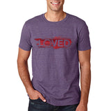 "I Loved Red Men T Shirts Red-T Shirts-Gildan-Heather Purple-S To Fit Chest 36-38"" (91-96cm)-Daataadirect"