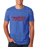 "I Loved Red Men T Shirts Red-T Shirts-Gildan-Heather Royal-S To Fit Chest 36-38"" (91-96cm)-Daataadirect"