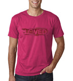 "I Loved Red Men T Shirts Red-T Shirts-Gildan-Heliconia-S To Fit Chest 36-38"" (91-96cm)-Daataadirect"