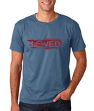 "I Loved Red Men T Shirts Red-T Shirts-Gildan-Indigo Blue-S To Fit Chest 36-38"" (91-96cm)-Daataadirect"