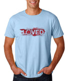 "I Loved Red Men T Shirts Red-T Shirts-Gildan-Light Blue-S To Fit Chest 36-38"" (91-96cm)-Daataadirect"