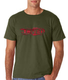 "I Loved Red Men T Shirts Red-T Shirts-Gildan-Military Green-S To Fit Chest 36-38"" (91-96cm)-Daataadirect"