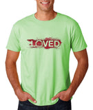 "I Loved Red Men T Shirts Red-T Shirts-Gildan-Mint Green-S To Fit Chest 36-38"" (91-96cm)-Daataadirect"