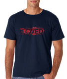 "I Loved Red Men T Shirts Red-T Shirts-Gildan-Navy Blue-S To Fit Chest 36-38"" (91-96cm)-Daataadirect"