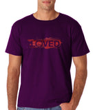 "I Loved Red Men T Shirts Red-T Shirts-Gildan-Purple-S To Fit Chest 36-38"" (91-96cm)-Daataadirect"