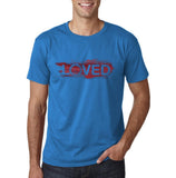 "I Loved Red Men T Shirts Red-T Shirts-Gildan-Sapphire-S To Fit Chest 36-38"" (91-96cm)-Daataadirect"
