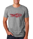 "I Loved Red Men T Shirts Red-T Shirts-Gildan-Sport Grey-S To Fit Chest 36-38"" (91-96cm)-Daataadirect"