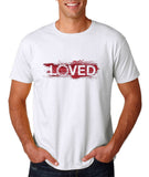 "I Loved Red Men T Shirts Red-T Shirts-Gildan-White-S To Fit Chest 36-38"" (91-96cm)-Daataadirect"