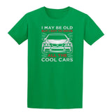 I May B Old But I Got To Drive All The Cool Cars Mens T Shirts-Gildan-Daataadirect.co.uk
