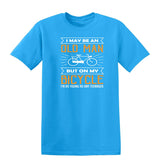 I May Be An Oldman But On Bicycle Mens T Shirts-Gildan-Daataadirect.co.uk