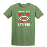 I Might Be A Mechanic But Cannot Fix Stupid Mens T Shirts-Gildan-Daataadirect.co.uk