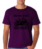 I only ride bike Mens T Shirts Black-Gildan-Daataadirect.co.uk