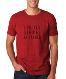 "I prefer strings attached Black mens T Shirt-T Shirts-Gildan-Antique Cherry-S To Fit Chest 36-38"" (91-96cm)-Daataadirect"