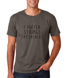 "I prefer strings attached Black mens T Shirt-T Shirts-Gildan-Charcoal-S To Fit Chest 36-38"" (91-96cm)-Daataadirect"