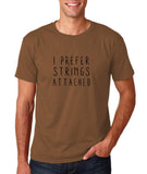 "I prefer strings attached Black mens T Shirt-T Shirts-Gildan-Chestnut-S To Fit Chest 36-38"" (91-96cm)-Daataadirect"
