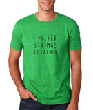 "I prefer strings attached Black mens T Shirt-T Shirts-Gildan-Heather Irish Green-S To Fit Chest 36-38"" (91-96cm)-Daataadirect"