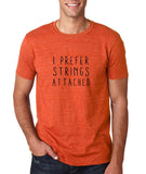 "I prefer strings attached Black mens T Shirt-T Shirts-Gildan-Heather Orange-S To Fit Chest 36-38"" (91-96cm)-Daataadirect"
