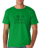 "I prefer strings attached Black mens T Shirt-T Shirts-Gildan-Irish Green-S To Fit Chest 36-38"" (91-96cm)-Daataadirect"