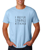 "I prefer strings attached Black mens T Shirt-T Shirts-Gildan-Light Blue-S To Fit Chest 36-38"" (91-96cm)-Daataadirect"