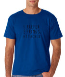"I prefer strings attached Black mens T Shirt-T Shirts-Gildan-Royal Blue-S To Fit Chest 36-38"" (91-96cm)-Daataadirect"