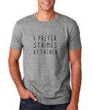 "I prefer strings attached Black mens T Shirt-T Shirts-Gildan-Sport Grey-S To Fit Chest 36-38"" (91-96cm)-Daataadirect"