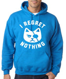 "I Regret Nothing Men Hoodies White-Hoodies-Gildan-Antique Sapphire-S To Fit Chest 36-38"" (91-96cm)-Daataadirect"