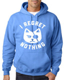 "I Regret Nothing Men Hoodies White-Hoodies-Gildan-Carolina Blue-S To Fit Chest 36-38"" (91-96cm)-Daataadirect"