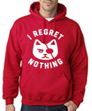 "I Regret Nothing Men Hoodies White-Hoodies-Gildan-Cherry Red-S To Fit Chest 36-38"" (91-96cm)-Daataadirect"