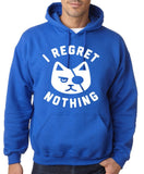 "I Regret Nothing Men Hoodies White-Hoodies-Gildan-Royal Blue-S To Fit Chest 36-38"" (91-96cm)-Daataadirect"
