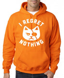 "I Regret Nothing Men Hoodies White-Hoodies-Gildan-Safety Orange-S To Fit Chest 36-38"" (91-96cm)-Daataadirect"