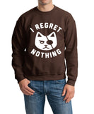 I Regret Nothing Men Sweat Shirts White-Gildan-Daataadirect.co.uk