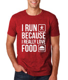 "I RUN BECAUSE I REALLY LOVE FOOD White mens T Shirt-T Shirts-Gildan-Antique Cherry-S To Fit Chest 36-38"" (91-96cm)-Daataadirect"