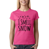 "I Smell Snow Black Womens T Shirt-T Shirts-Gildan-Heliconia-S UK 10 Euro 34 Bust 32""-Daataadirect"