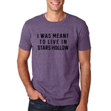 "I was meant to live in satrs hollow Black mens T Shirt-T Shirts-Gildan-Heather Purple-S To Fit Chest 36-38"" (91-96cm)-Daataadirect"