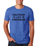 "I was meant to live in satrs hollow Black mens T Shirt-T Shirts-Gildan-Heather Royal-S To Fit Chest 36-38"" (91-96cm)-Daataadirect"