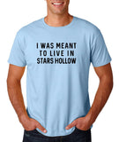 "I was meant to live in satrs hollow Black mens T Shirt-T Shirts-Gildan-Light Blue-S To Fit Chest 36-38"" (91-96cm)-Daataadirect"