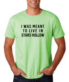 "I was meant to live in satrs hollow Black mens T Shirt-T Shirts-Gildan-Mint Green-S To Fit Chest 36-38"" (91-96cm)-Daataadirect"