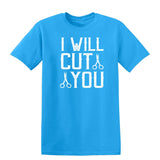 I Will Cut You Mens T Shirts-Gildan-Daataadirect.co.uk