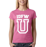 "IDFW U Women T Shirt White-T Shirts-Gildan-Azalea-S UK 10 Euro 34 Bust 32""-Daataadirect"