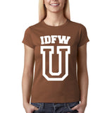 "IDFW U Women T Shirt White-T Shirts-Gildan-Chestnut-S UK 10 Euro 34 Bust 32""-Daataadirect"