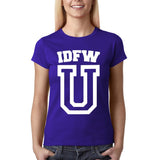 "IDFW U Women T Shirt White-T Shirts-Gildan-Cobalt-S UK 10 Euro 34 Bust 32""-Daataadirect"