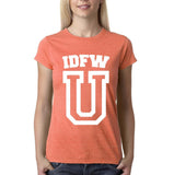 "IDFW U Women T Shirt White-T Shirts-Gildan-Heather Orange-S UK 10 Euro 34 Bust 32""-Daataadirect"