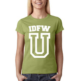 "IDFW U Women T Shirt White-T Shirts-Gildan-Kiwi-S UK 10 Euro 34 Bust 32""-Daataadirect"