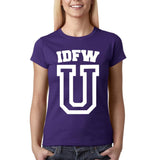 "IDFW U Women T Shirt White-T Shirts-Gildan-Purple-S UK 10 Euro 34 Bust 32""-Daataadirect"