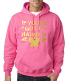"If you've got it hanut it Mens Hoodies Gold-Hoodies-Gildan-Safety pink-S To Fit Chest 36-38"" (91-96cm)-Daataadirect"