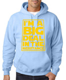 I'm a big deal in the resistance Mens Hoodies Yellow-Gildan-Daataadirect.co.uk