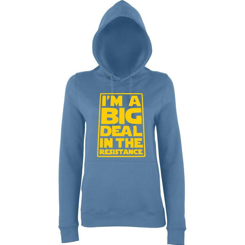 I'M a big deal in the resistance Women Hoodies Yellow-AWD-Daataadirect.co.uk